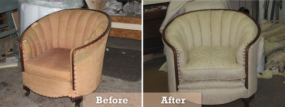 restored furniture Before and after